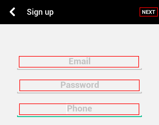 The form for signing up for Vine with email