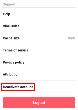 How to deactivate your Vine account