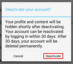 How to confirm that you wish to delete your Vine account
