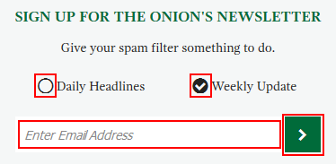 How to sign up for The Onion newsletter