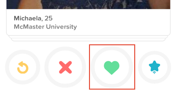 How to like someone on Tinder