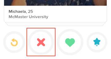 How to ignore someone on Tinder