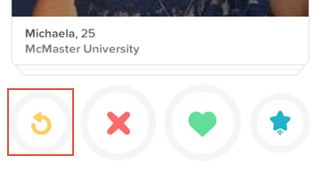 How to rewind your last action on Tinder