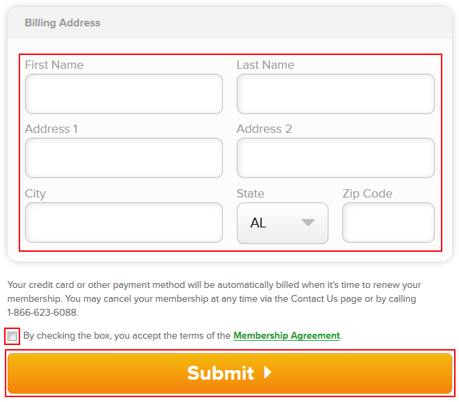 How to confirm your Angie's List account by entering your billing address