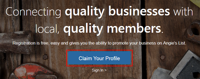 How to claim your business profile on Angie's List