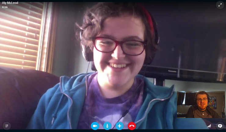 Skype Video Chat Screenshot