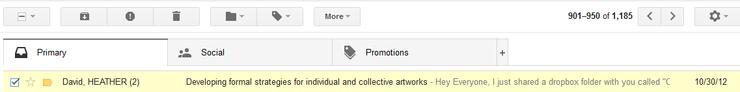Gmail Inbox Header Settings