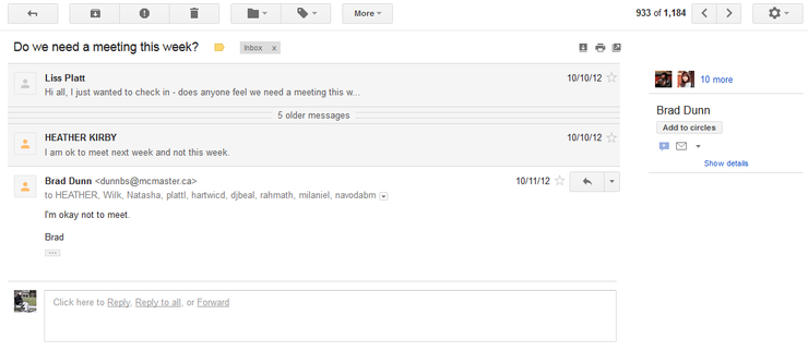 Gmail Email Screenshot
