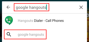 How to search for Google Hangouts in the app store