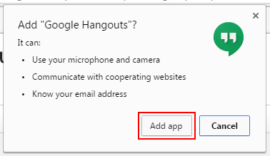 How to give Google Hangouts permissions on your computer before installing it