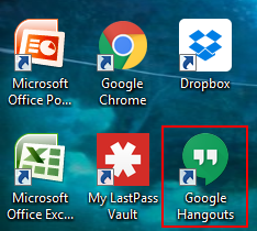 How to launch the Google Hangouts desktop client