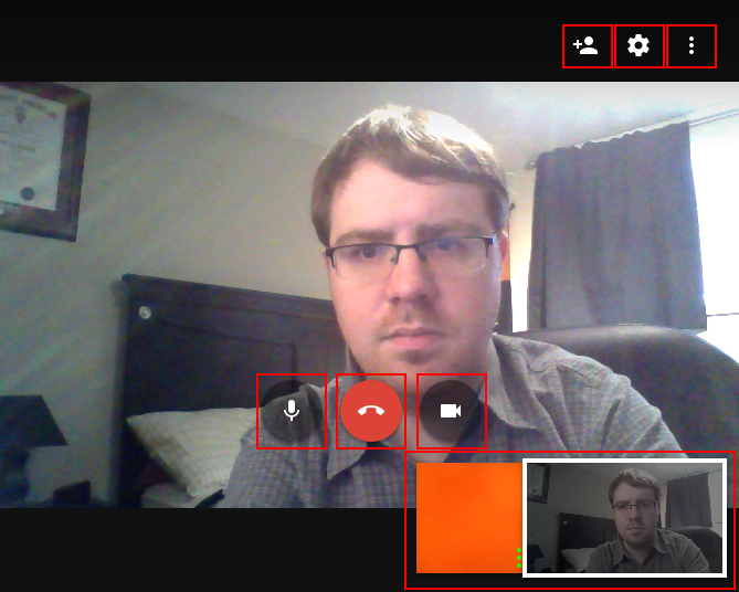 How to use the Google Hangouts video call interface