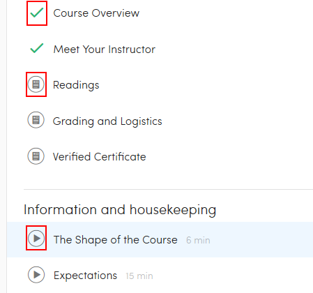 Accessing Coursera course materials