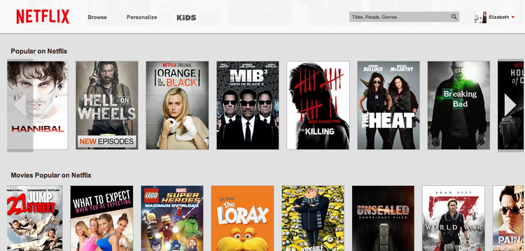 Netflix has a large library of different movies and TV shows