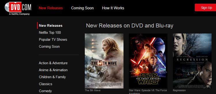 Renting DVDs from Netflix through DVD.com