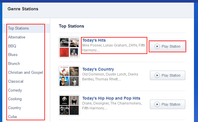 How to browse for pre-made Pandora radio stations