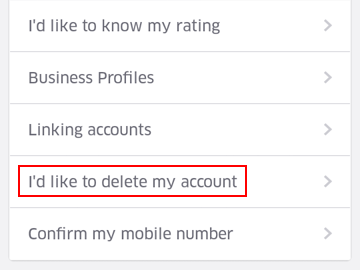 How to request the deletion of your Uber account