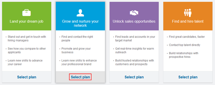 How to compare LinkedIn Premium plans