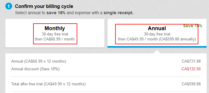 How to select your LinkedIn Premium billing cycle
