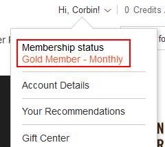 Your membership status on Audible