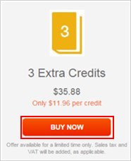 Confirming the purchase of extra credits for your Audible account