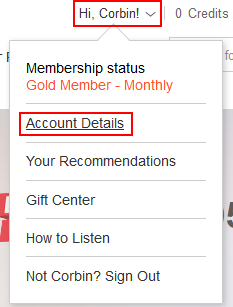 How to access your account settings on Audible