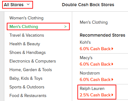 How to browse stores on Ebates