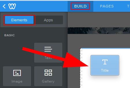 Building your Weebly website by adding and editing elements
