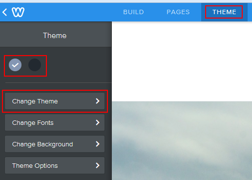 How to change the theme of your Weebly website