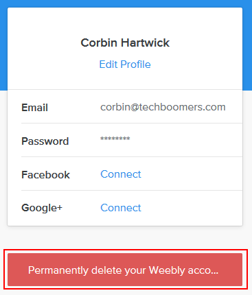 How to permanently delete your Weebly account