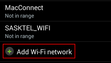 How to add a new WiFi network for your mobile device
