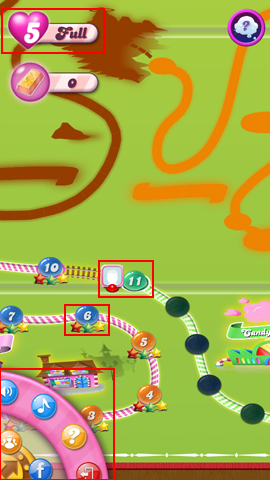 How to use the main map screen for Candy Crush Saga