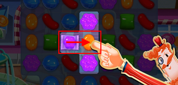 How to match a special wrapped candy in Candy Crush Saga