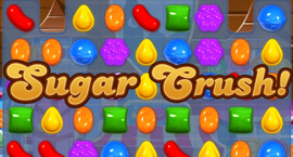 A Sugar Crush at the end of a Candy Crush Saga level