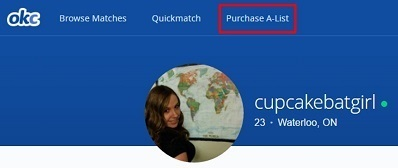 Where to purchase the OkCupid A-List