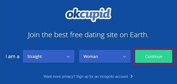 Sign up for OkCupid