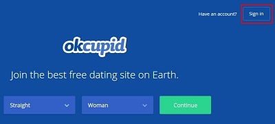 Sign in to OkCupid