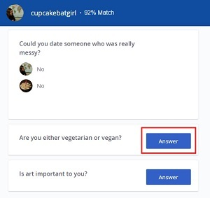 Answer questions on someone else's profile to reveal their answers