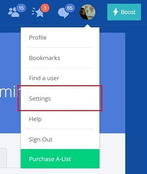Find your OkCupid account settings