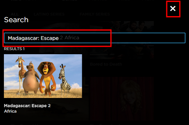 Use the magnifying glass to search for something specific in the HBO Now library