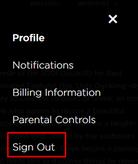 Click Sign out to sign out of your HBO Now account
