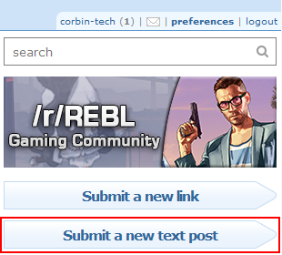 How to create a new text post on Reddit