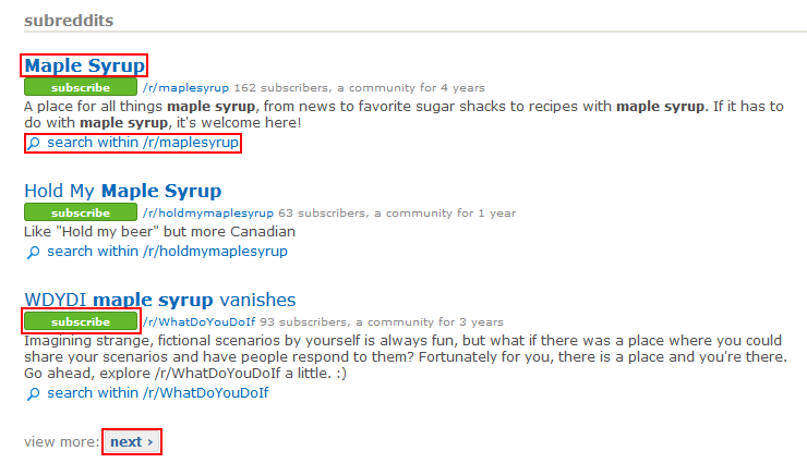 How to search within subreddits on Reddit