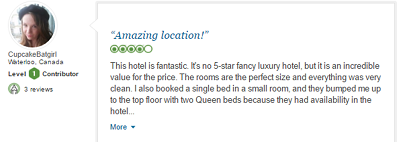 Read reviews on TripAdvisor to learn about properties all over the world