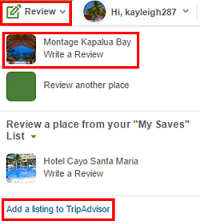Click to add a Review to TripAdvisor