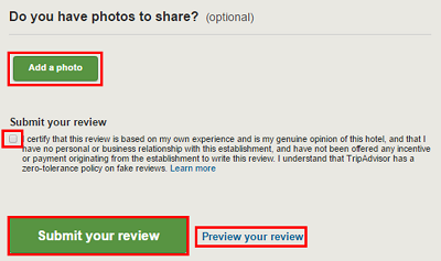 Add photos to your review