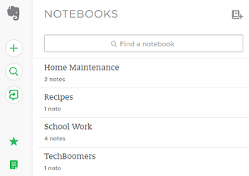 Sort your notes into Notebooks to stay organized