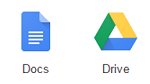 Google Docs and Google Drive logos