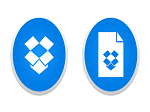 Dropbox and Dropbox Paper logos