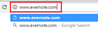 Enter www.evernote.com in your web browser of choice